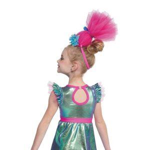 21651  Hair Up Trolls World Kids Character Dance Costume Back