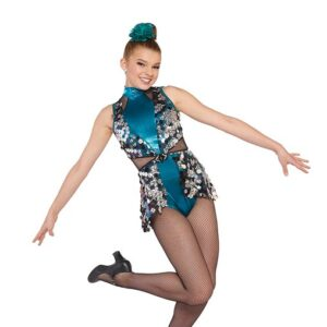 21658  Give It Up Large Holographic Sequin Jazz Dance Costume