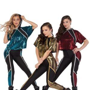 21663  Slay Sequin Slinky Hip Hop Performance Dance Costume