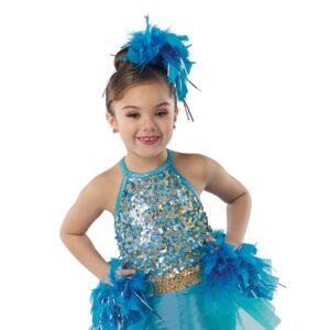 21671  Flock Together Hologram Sequin Kids Jazz Dance Costume