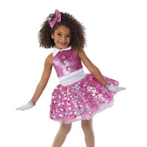 21674  Here We Go Jewelled Sequin Kids Tap Dance Costume
