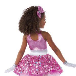 21674  Here We Go Jewelled Sequin Kids Tap Dance Costume Back