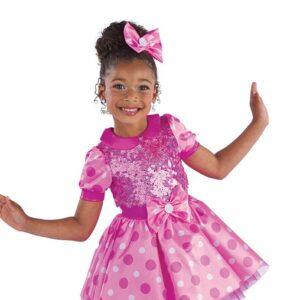 21675  Fabulous Feet Polka Dot And Sequin Kids Tap Dance Costume A