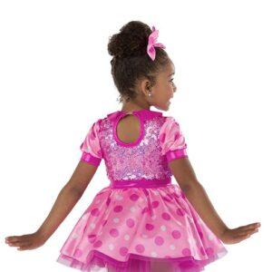21675  Fabulous Feet Polka Dot And Sequin Kids Tap Dance Costume Back