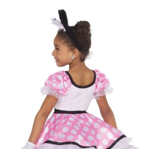 21676  Minnie Mouse Kids Character Performance Dance Costume Back