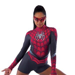 21683  Spiderman Character Performance Dance Costume