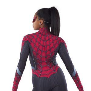 21683  Spiderman Character Performance Dance Costume Back