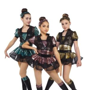 217  Hear Me Roar Leopard Print Foil Dance Costume