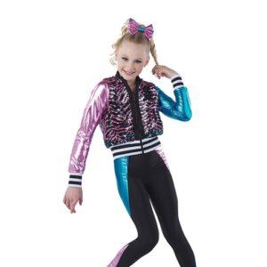 21721  World Wide Party Zebra Flip Sequin Hip Hop Performance Costume A