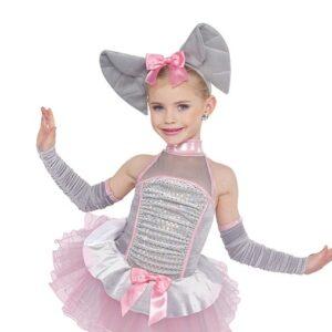 21730  Pink Elephants Kids Character Performance Dance Costume A