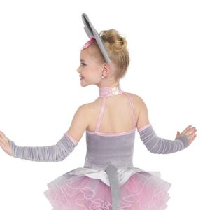 21730  Pink Elephants Kids Character Performance Dance Costume Back