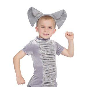21731  Elephants Boys Top Ears Kids Character Performance Dance Costume A
