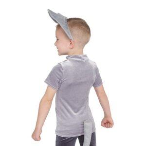 21731  Elephants Boys Top Ears Kids Character Performance Dance Costume Back