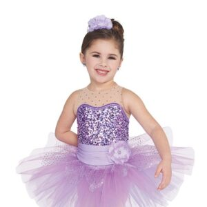 21733  Where Lost Things Go Kids Sequin Performance Ballet Tutulavender