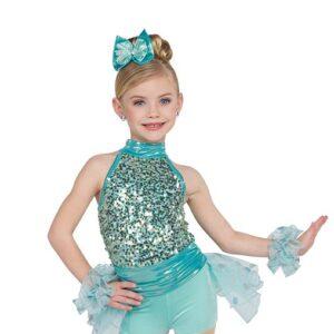 21734  Sweet Child Sequin Kids Jazz Dance Costume A