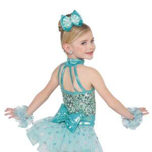 21734  Sweet Child Sequin Kids Jazz Dance Costume Aqua Back