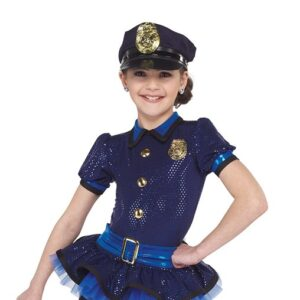 21739  Keystone Cops Police Kids Character Performance Dance Costume