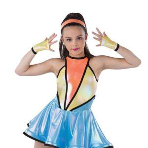 21748  Space Trolls Iridescent Foil Dance Dress A