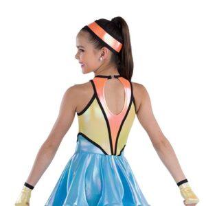 21748  Space Trolls Iridescent Foil Dance Dress Back