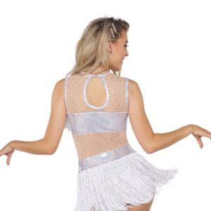 21753  Get Right Sequin Hologram Jazz Tap Dance Dress Back