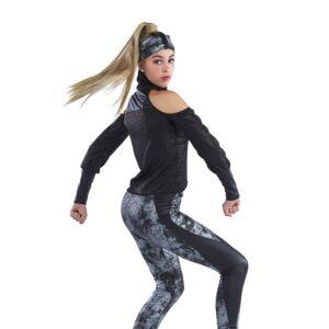 21759  Dissolve Snakeskin Print Hip Hop Performance Dance Costume Back