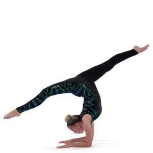 21784 C Level Of Concern Hologram Geometric Sequin Jazz Dance Unitard B