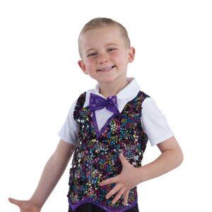 21790  Easy Going Day Glitz Sequin Boys Dance Top A