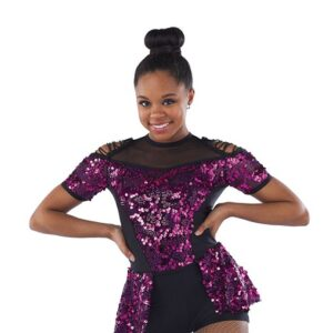 21793  Me And You Glitz Sequin Mesh Jazz Dance Costume A