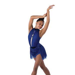21795  How Do You Sleep Two Tone Mesh Jazz Dance Dress Royal