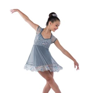 21796  Only Human Sequin Lace Lyrical Dance Dress Grey