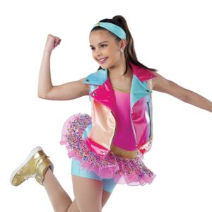 21810  Whats Poppin Hip Hop Performance Dance Shortall With Vest