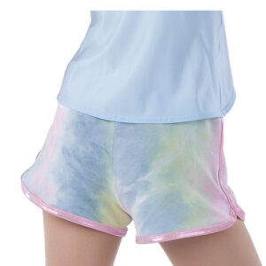 21812HP  Stronger Tiedye French Terry Hip Hop Performance Shorts Back