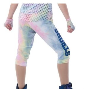 21813P  Stronger Tiedye French Terry Hip Hop Performance Jogger Pants Back