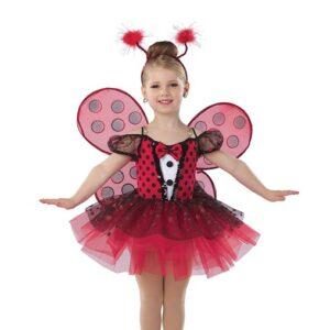 21817Y  Ladybug Picnic Ladybird Kids Character Performance Dance Costume