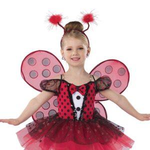 21817Y  Ladybug Picnic Ladybird Kids Character Performance Dance Costume A
