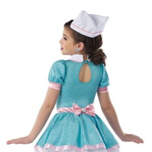 21818Y  Ooby Dooby Diner Waitress Character Performance Dance Costume Back