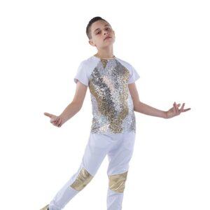 21829  Im Real Guy Camo Sequin Hip Hop Dance Costume