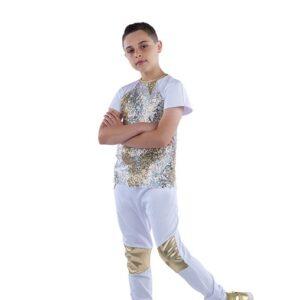 21829  Im Real Guy Camo Sequin Hip Hop Dance Costume A