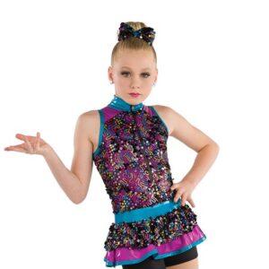 21832  Best Of My Love Glitz Sequin Mesh Kids Jazz Dance Costume