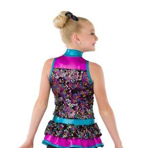 21832  Best Of My Love Glitz Sequin Mesh Kids Jazz Dance Costume Back