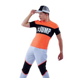21845  Sketchers Colourblock Spandex Performance Hip Hop Guy Costume