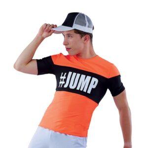 21845  Sketchers Colourblock Spandex Performance Hip Hop Guy Costume Orange