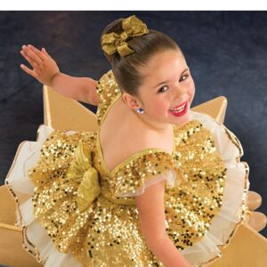 21861  Something I Want Paillette Sequin Lurex Kids Tap Dance Costume A