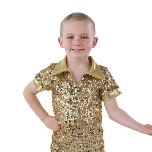 21862  Something I Want Sequin Lurex Guy Dance Shirt A