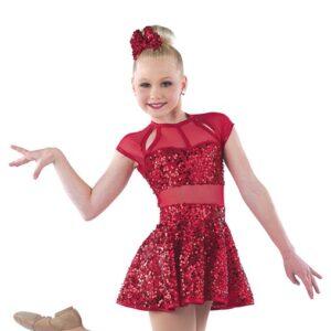 21863  Rock This Town Paillete Sequin Lurex Jazz Dance Dress A