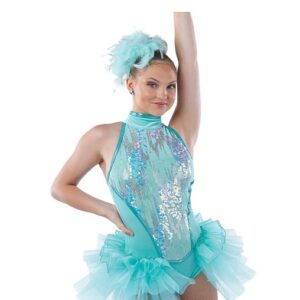 21866  Lets Be Bad Mixed Sequin Mesh Jazz Tap Dance Costume A
