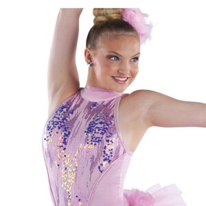 21866  Lets Be Bad Mixed Sequin Mesh Jazz Tap Dance Costume Detail