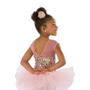 21875  Dreamworld Short Kids Sequin Performance Ballet Tutu Back