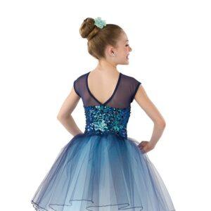 21876  Dreamworld Long Kids Sequin Performance Ballet Tutu Back