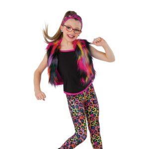 21882  Hold The Drama Multicolour Leopard Print Hip Hop Performance Dance Tank Leggings